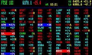 A trader's terminal screen