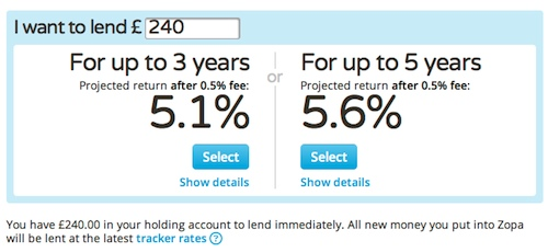The new Zopa Safeguard option is trivial to use