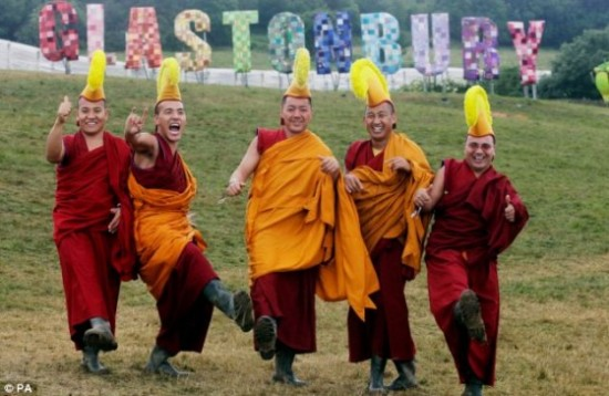Happy monks