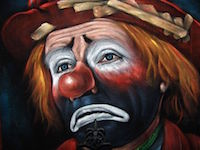 A sad investing clown, yesterday.