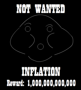 Inflation: Not wanted parody sign