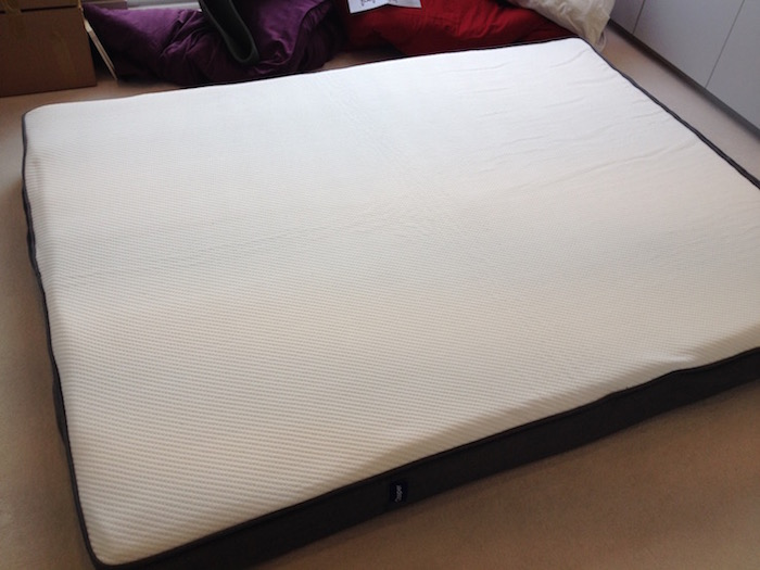 Photo of a Caspar mattress five minutes after unwrapping