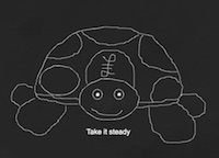 Our passive investing logo: A slow and steady tortoise