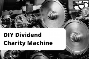 Logo for DIY Dividend charity machine