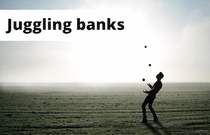 Image of a juggler to represent switching bank account repeatedly
