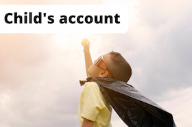 Image of a kid as a superhero: Our money mindsets are often shaped by our childhood
