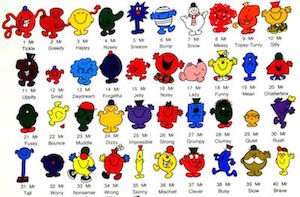 The Mr Men as an illustration of the variety of thematic ETFs