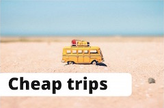 Image of campervan to illustrate the idea of cheap travel saving money